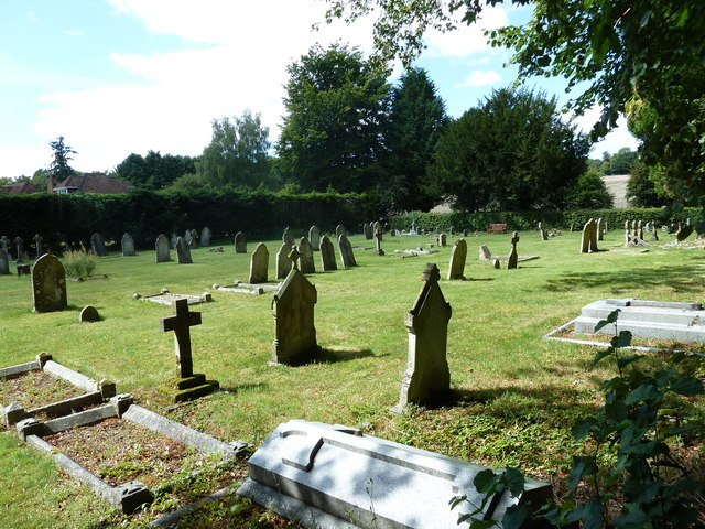 Cemetery opposite Amport parish church