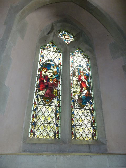 Saint Mary, Amport: stained glass window (i)