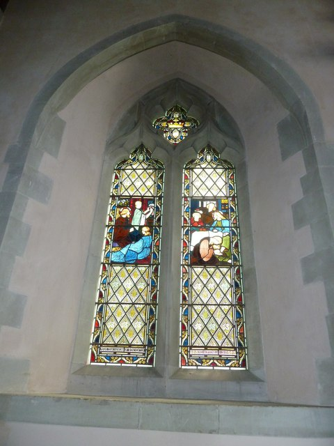 Saint Mary, Amport: stained glass window (ii)