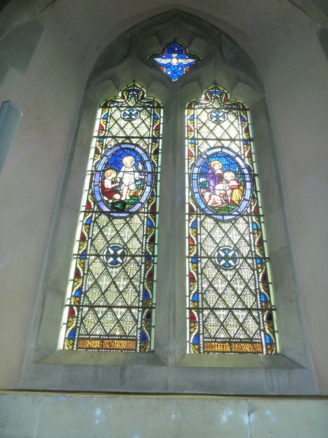 Saint Mary, Amport: stained glass window (iv)