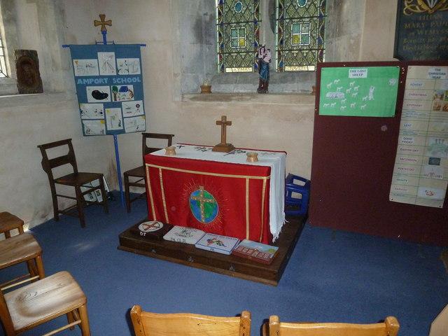 Saint Mary, Amport: side altar
