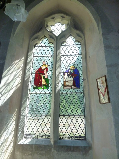 Saint Mary, Amport: stained glass window (v)