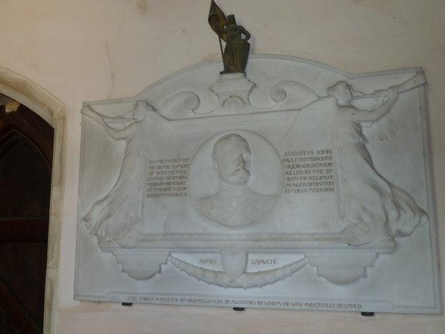 Saint Mary, Amport: memorial (B)