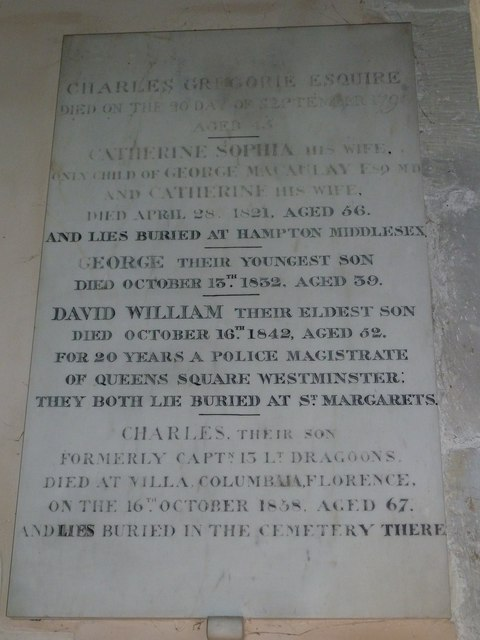 Saint Mary, Amport: memorial (D)