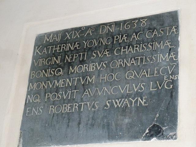 Saint Mary, Amport: memorial (F)