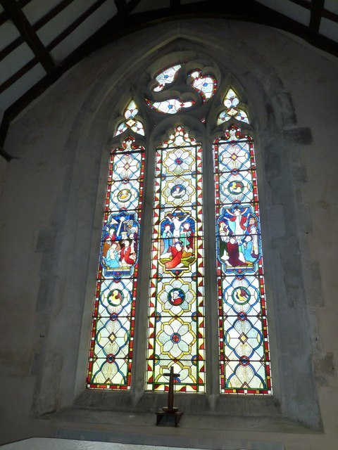 Saint Mary, Amport: stained glass window (vi)