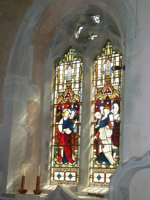 Saint Mary, Amport: stained glass window (viii)