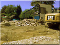 TL8464 : Demolition of tyre centre by John Goldsmith