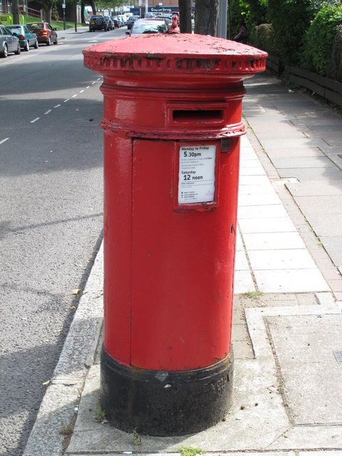 """Anonymous"" (Victorian) postbox, Brondesbury Road, NW6"