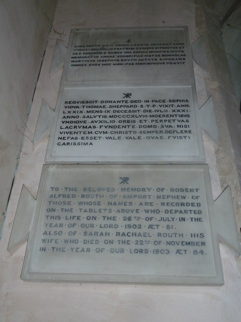Saint Mary, Amport: memorial (G)