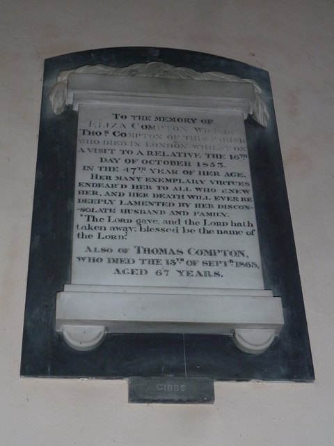 Saint Mary, Amport: memorial (H)
