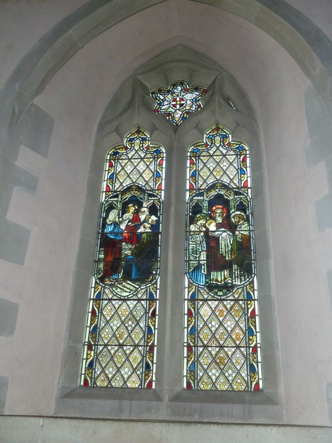 Saint Mary, Amport: stained glass window (x)