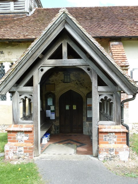 St Nicholas, Leckford: church porch