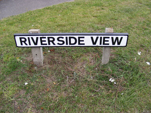 Riverside View sign