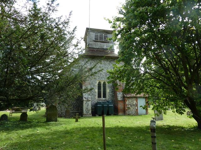 St Nicholas, Leckford- western aspect