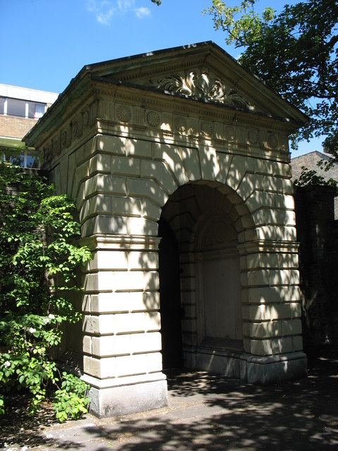 The former entrance gate to Sidney Sussex College, Cambridge