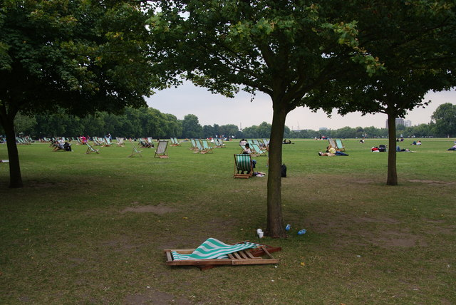 Deckchairs at Hyde Park