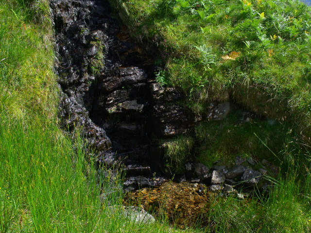 Wee waterfall on west flank of Meall Gaothach near Loch Katrine
