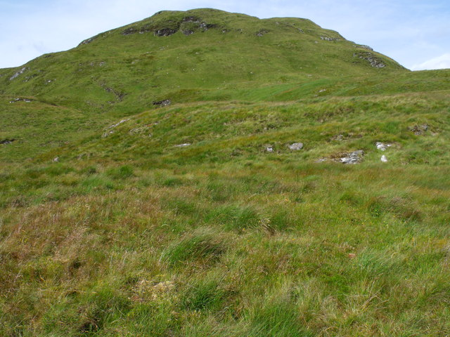 Level area on the south ridge of Meall Gaothach