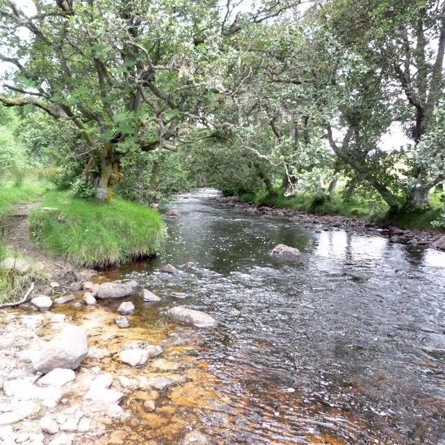 Ford across the Strath Carnaig River