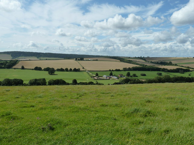 View over the Lavant Valley from the West Sussex Literary Trail