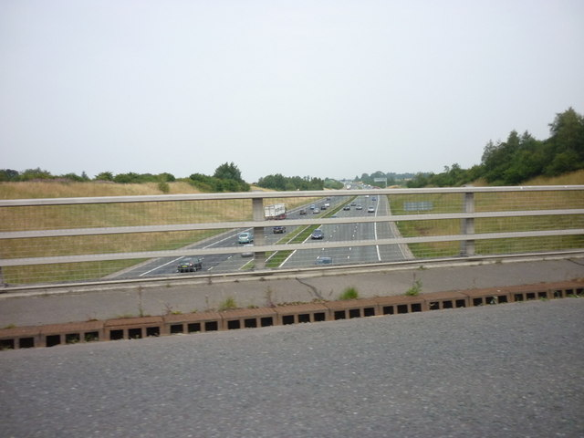 The A1M from Marton Lane