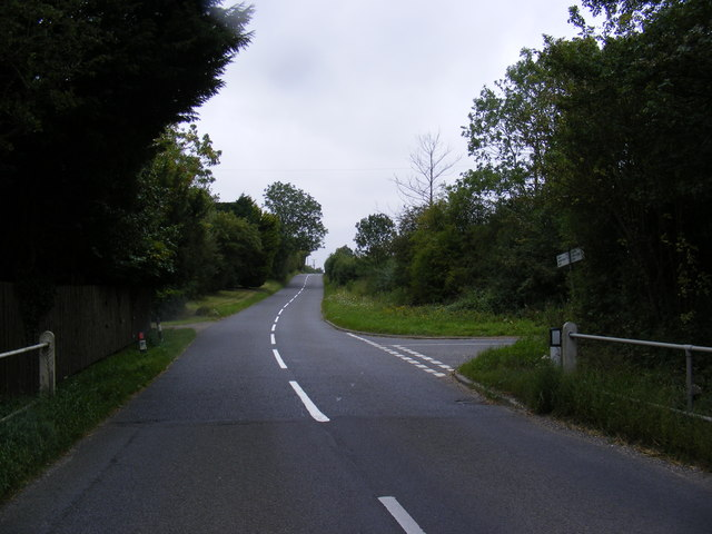 Road junction on the B1078 Ipswich Road