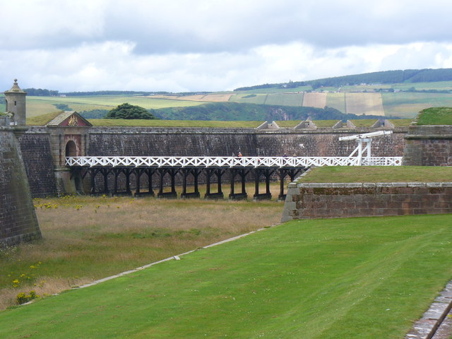 Fort George - Moat and Drawbridge