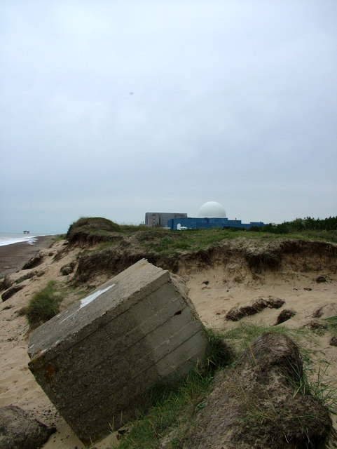 Sizewell B from tank trap line
