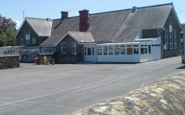 Northern side of Ffairfach Primary School