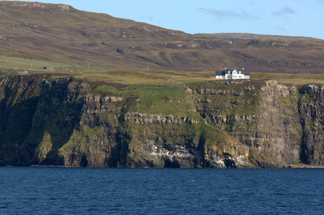 Clifftop house at Earlish, near Uig