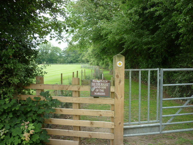 The Knaresborough Round footpath at Stang Lane