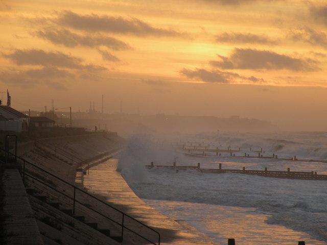 High Seas and Sunset at Walcott Gap
