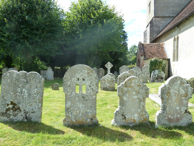 All Saints, Upper Clatford: churchyard in August 2011 (c)
