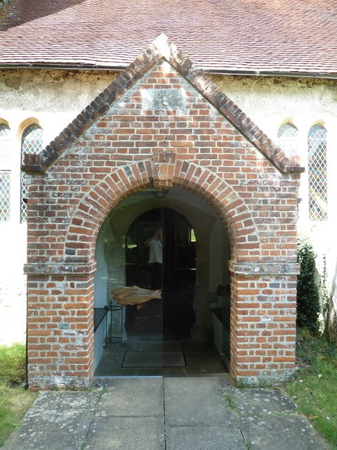 All Saints, Upper Clatford: church porch