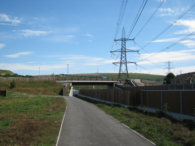 Roundabout over the Weymouth Relief Road