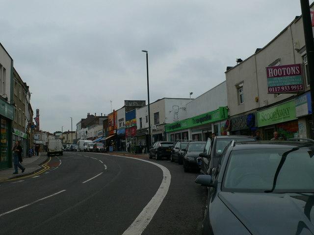 Looking up Gloucester Road, Bishopston