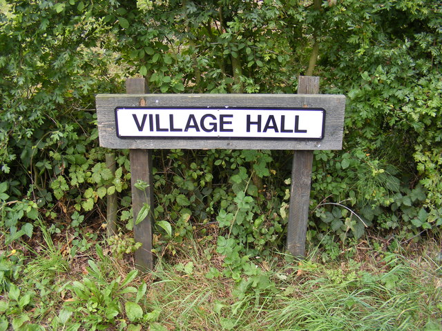 Clopton Village Hall sign