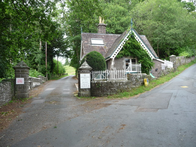 Old Lodge above Llangenny