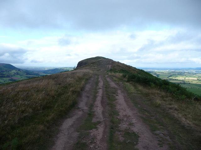 On the Skirrid summit ridge