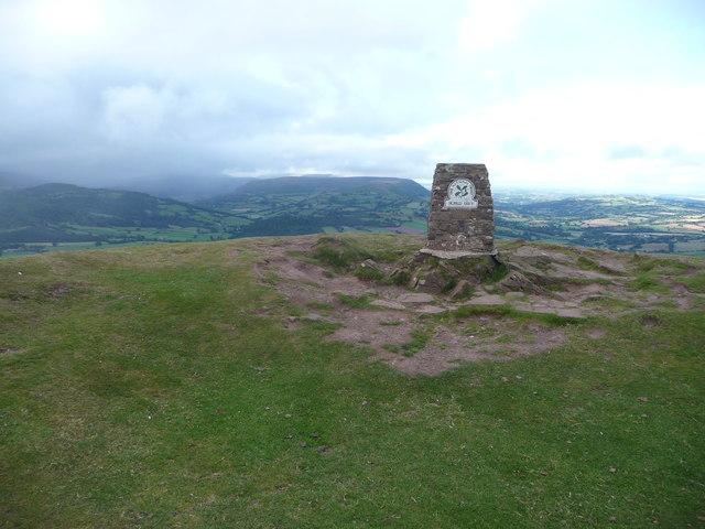 The summit of Ysgyryd Fawr