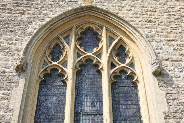 Chancel window detail