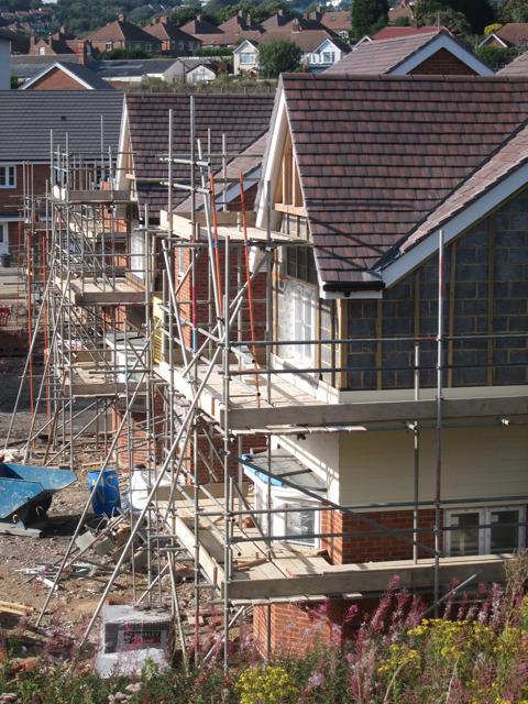 New housing estate under construction