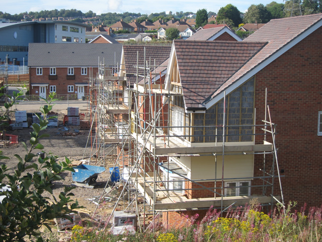 New housing estate under construction