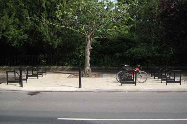 Bicycle stands, Newbold Terrace