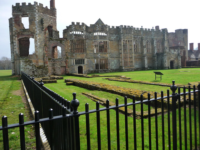 Ruins of Cowdray Castle Midhurst