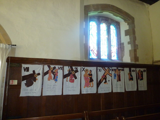 All Saints, Upper Clatford: stations of the cross