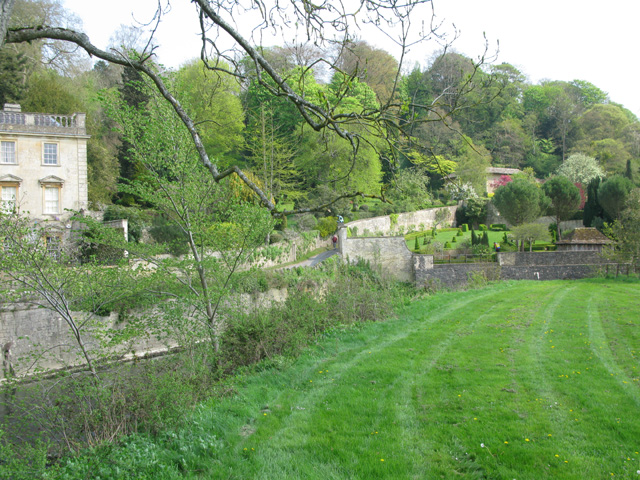 Grounds of Iford Manor above the river Frome
