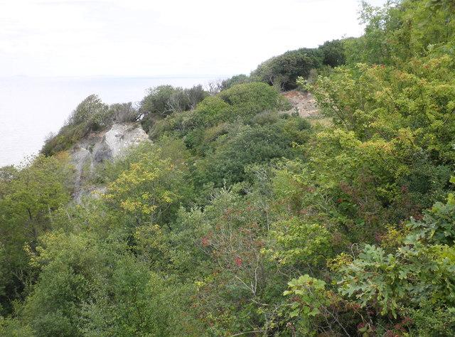 Land slip, west of Watchet