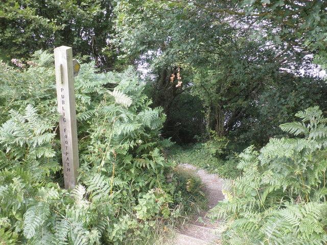 Path to the beach, Warren Farm